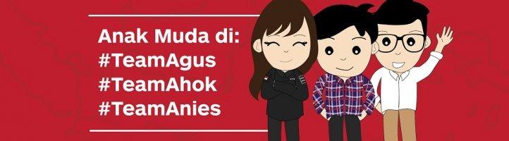 Anak Muda di Balik Kampanye Agus-Sylvi, Ahok-Djarot, dan Anies-Sandi
