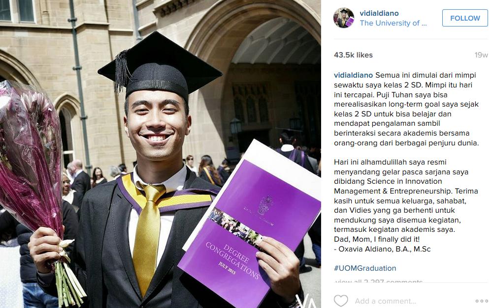 youthmanual seleb kuliah di inggris