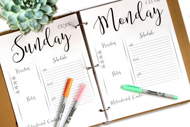 jadwal planner sehari-hari