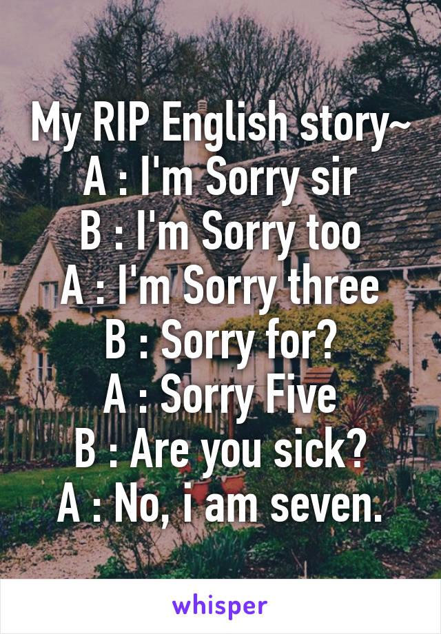 lelucon bahasa inggris