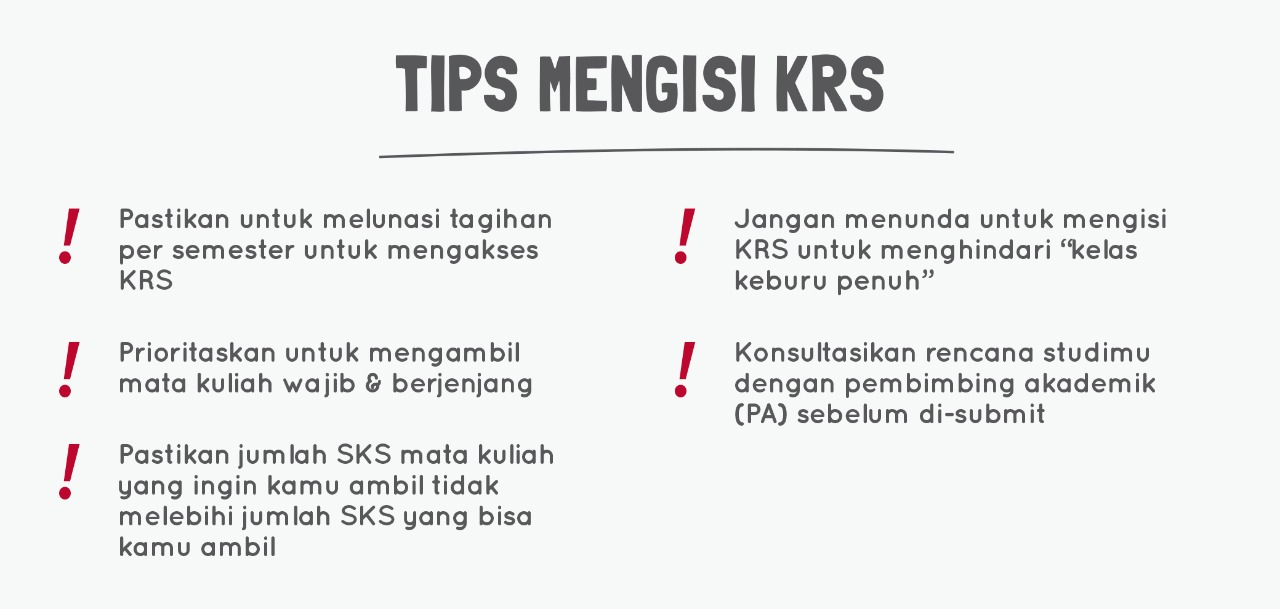 tips mengisi krs